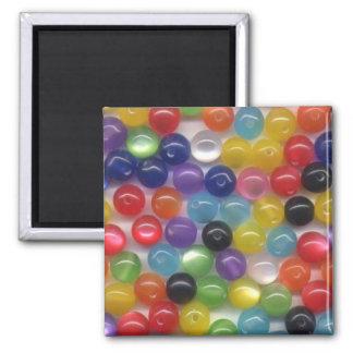 Perles optiques de fibre magnet carré