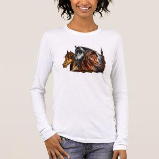 PerliPrints3Horsesz Long Sleeve T-Shirt