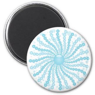 Perls - bleu magnet rond 8 cm