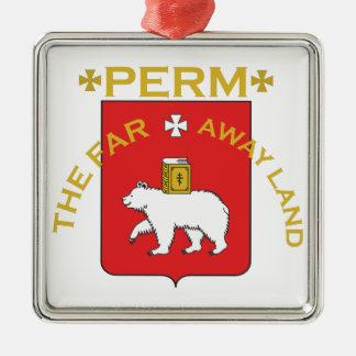 Perm Far Away Land Silver-Colored Square Ornament