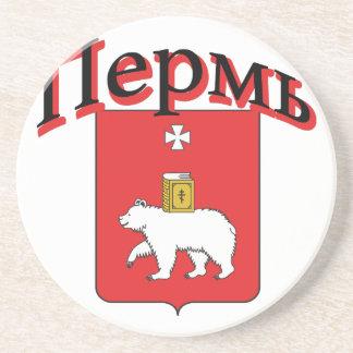 Perm Russia Flag Beverage Coaster