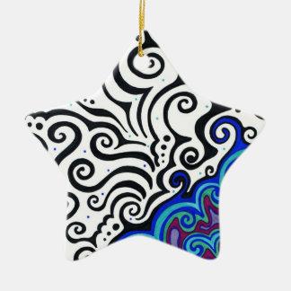 Permafrost Ceramic Star Ornament