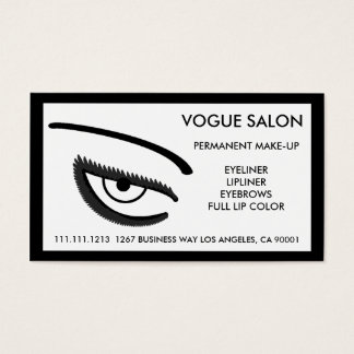 PERMANENT MAKE-UP BEAUTIFUL EYES BUSINESS CARD