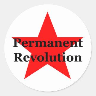 Permanent Revolution Round Sticker