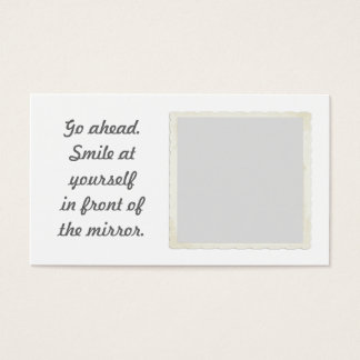 Permission to smile Mirror Business Cards