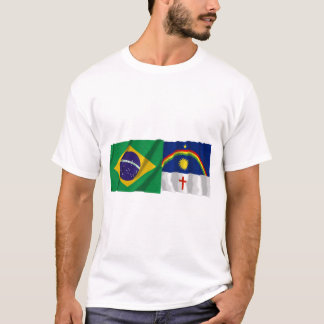 Pernambuco & Brazil Waving Flags T-Shirt