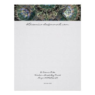 Peromedusae Mirrored Fine Art Letterhead Template
