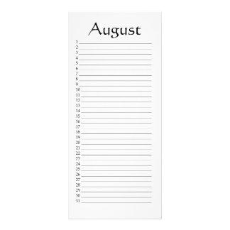 Perpetual Calendar August Psalm 145:5 Rack Card