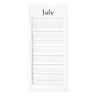 Perpetual Calendar July Psalm 96:6 Rack Card
