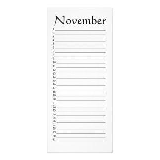 Perpetual Calendar November Job 37:22 Rack Card