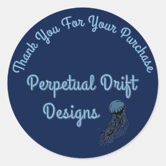Perpetual Drift Thank You Dark Version Round Sticker
