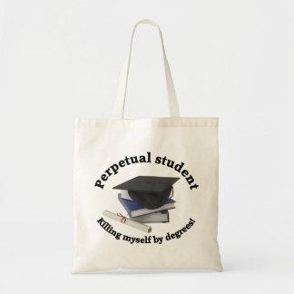 perpetual student 2 budget tote bag