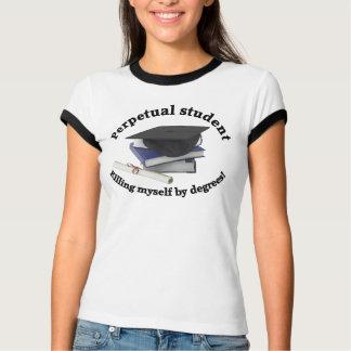 perpetual student 2 Ladies Ringer shirt