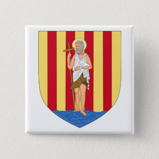 Perpignan Coat of Arms 2 Inch Square Button