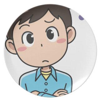 Perplexed Boy Plate