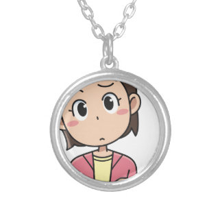 Perplexed Silver Plated Necklace