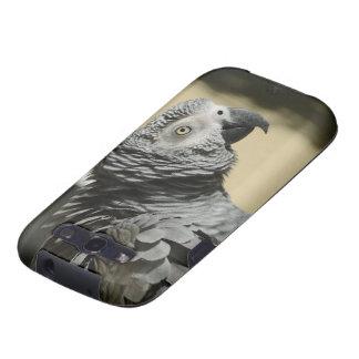 Perroquet de gris africain du Congo avec les Coque Galaxy S3