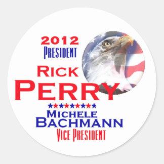 Perry Bachmann 2012 Round Sticker