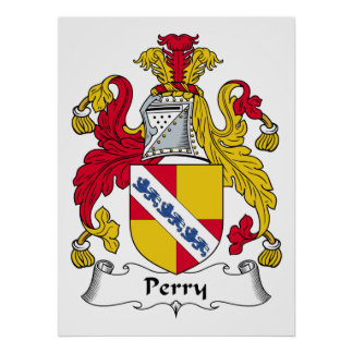 Perry Family Crest Poster