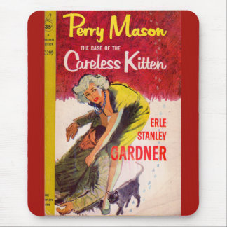 Perry Mason Case of the Careless Kitten book cover Mouse Pad