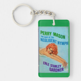 Perry Mason Case of the Negligent Nymph book cover Double-Sided Rectangular Acrylic Keychain
