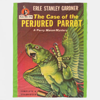 Perry Mason Case of the Perjured Parrot Fleece Blanket