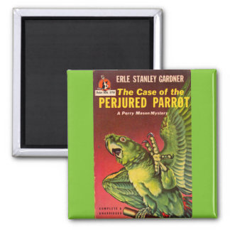 Perry Mason Case of the Perjured Parrot Square Magnet