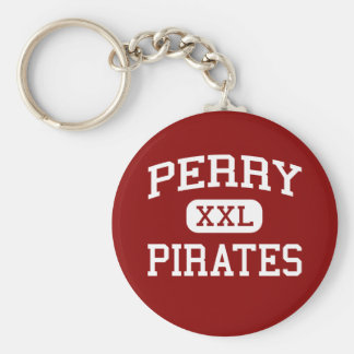 Perry - Pirates - Perry Middle School - Perry Ohio Basic Round Button Keychain