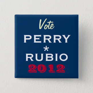 PERRY / RUBIO 2012 Campaign Button (Square)