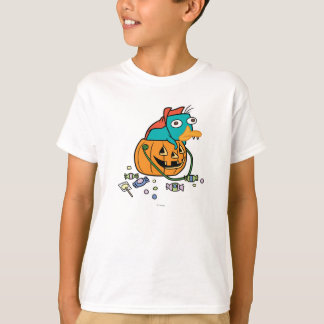 Perry the Platypus in Pumpkin T-Shirt