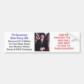 Perry's Glow-N-The Dark Texas Bumper Sticker