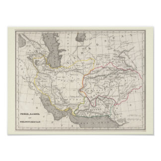 Perse, Kaboul et Beloutchistan - Historic Map Poster