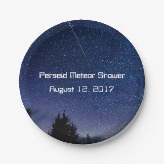 Perseid Meteor Shower 2017 Paper Plate