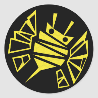 persephones bee-comb round sticker