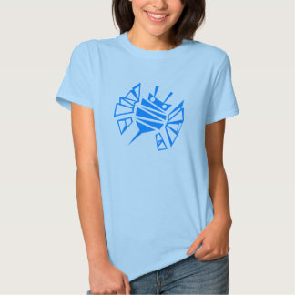 Persephone's Blue Bee Comb Tee Shirts
