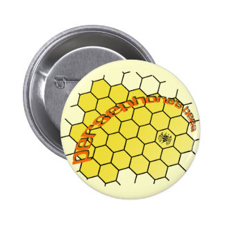 persephonesbees-yellow-comb 2 inch round button