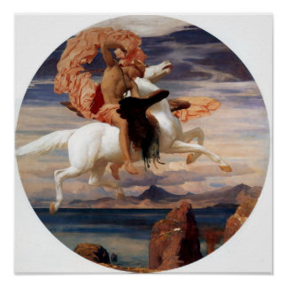 Perseus On Pegasus Poster