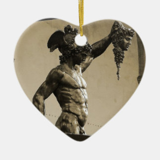 Perseus with the head of Medusa Ceramic Ornament