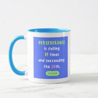 Perseverance and Triumph Quote Mug