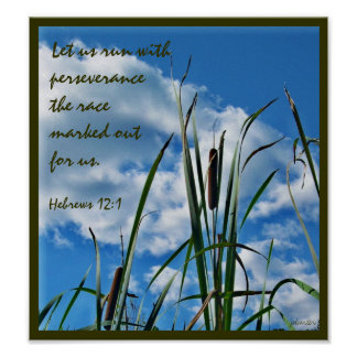 Perseverance Christian Nature Poster
