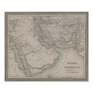 Persia and Arabia Poster