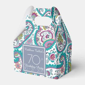Persian Boteh Paisley 70th Birthday Thank You F B Wedding Favor Box