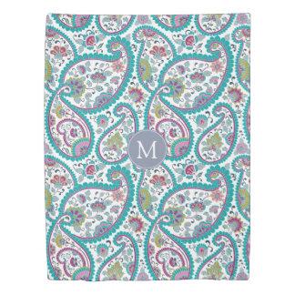 Persian Boteh Paisley Pattern Monogram Duvet Cover