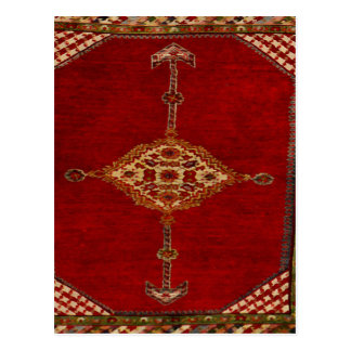 Persian carpet -bold design postcard