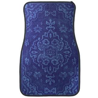Persian carpet look in blue car mat