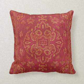Persian carpet look in orange throw pillow