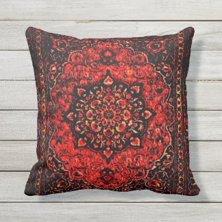 Persian carpet look in rose tinted field no2 throw pillow