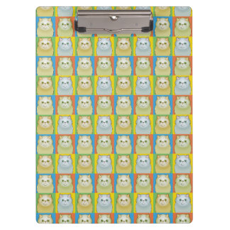 Persian Cat Cartoon Pop-Art Clipboard