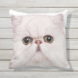 PERSIAN CAT FACE FOCUS THROW PILLOW