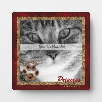 Persian Cat Memorial Photo Plaque